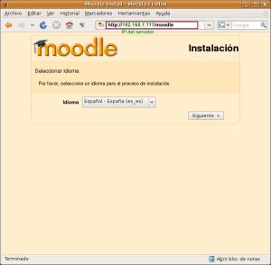 Instalación de Moodle - Paso 1
