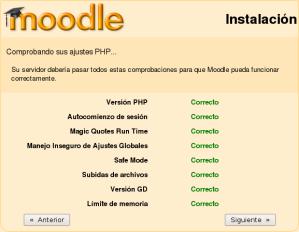 Instalación de Moodle - Paso 2