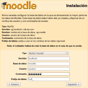 Instalación de Moodle - Paso 4