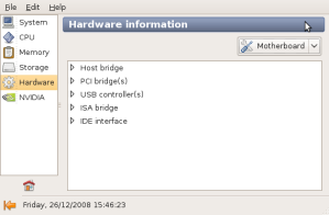 Ventana de Hardware