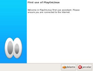 Primera ejecución de PlayOnLinux