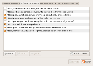 Software de terceros