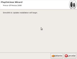Comienza la instalación de DirectX9.0c