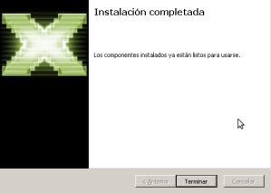 Instalación de DirectX9.0c terminada