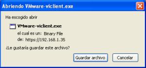 Guardar VMware Infrastructure Client