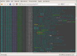 Log en HTML