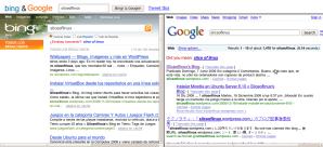 Comparamos los resultados de Bing y Google