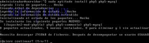 Instalamos PHP5 y el módulo de MySQL para PHP5