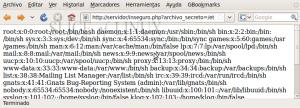 Accedemos al archivo inseguro.php desde el navegador