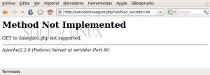 Accedemos al archivo insegguro.php