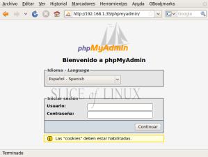 Accedemos a phpMyAdmin
