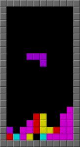 Pantalla de Tetris