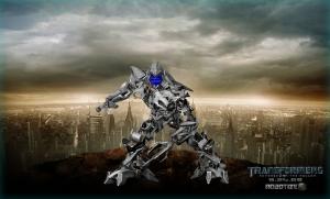 Megatron con un pantallazo azul de la muerte
