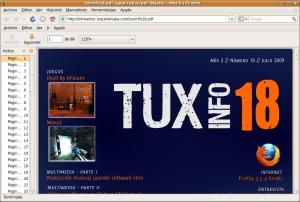 Podemos ver TuxInfo 18 en Firefox