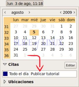 Vemos las citas del Google Calendar en GNOME