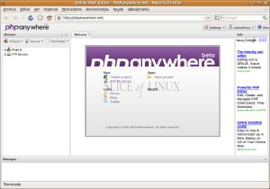 Interfaz de PHPAnywhere
