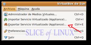 Archivos > Exportar servicio virtualizado