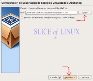 Exportamos la máquina virtual