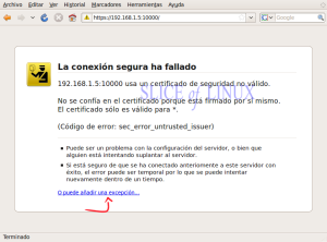 Advertencia de seguridad de Firefox