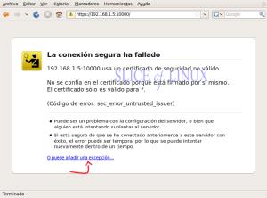 Advertencia de seguridad de Firefox
