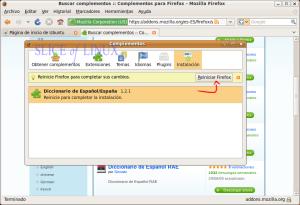 Reiniciamos Firefox