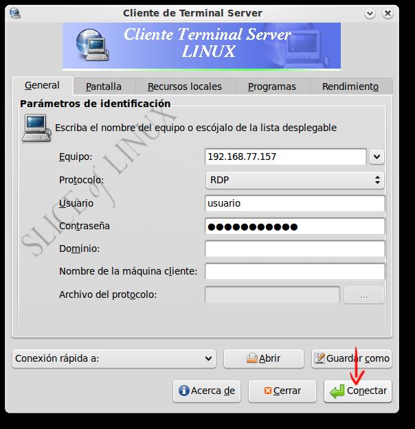 Figura 7 - Conexion a escritorio remoto windows xp ...