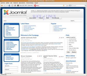 Accedemos a nuestro sitio Joomla!