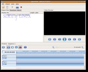 Interfaz de OpenShot Video Editor