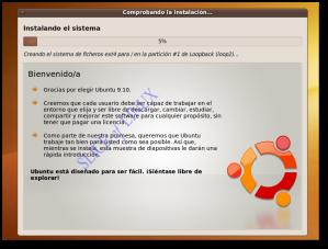 Esperamos mientras se instala Ubuntu