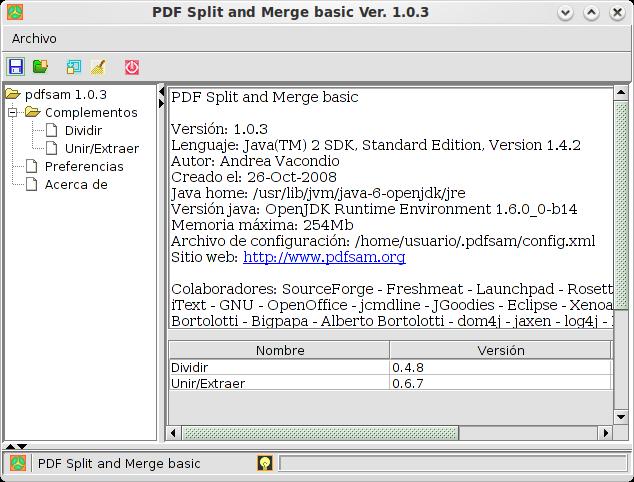 Poner PDF Split And Merge En Español