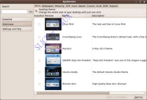 Epidermis 0.4.1 funcionando en Ubuntu 9.10