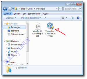 Hacemos doble clic sobre el icono de VirtualBox