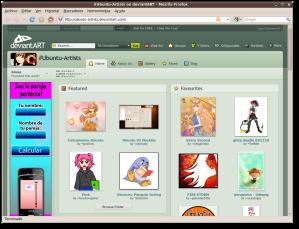 Grupo de Ubuntu en DeviantART