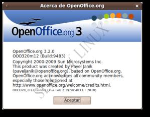 Acerca de OpenOffice.org 3.2