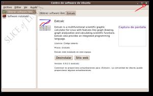 Cerramos el Centro de software de Ubuntu