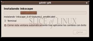 Instalación de Inkscape 0.47