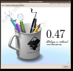 Inkscape 0.47 instalado correctamente