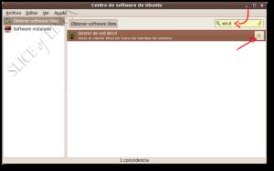 Buscamos wicd en el Centro de software de Ubuntu