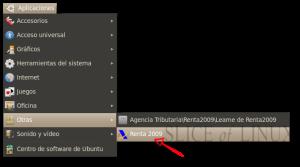 Aplicaciones > Otras > Renta 2009