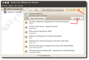 Buscamos e instalamos Desktop Webmail
