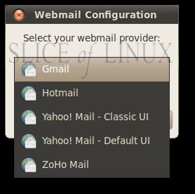 Seleccionamos nuestro proveedor de correo web