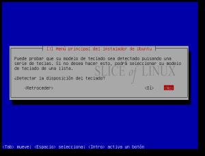 Sin detección automática del teclado