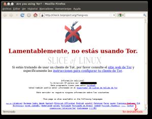 Hacemos clic sobre Tor deshabilitado para activarlo