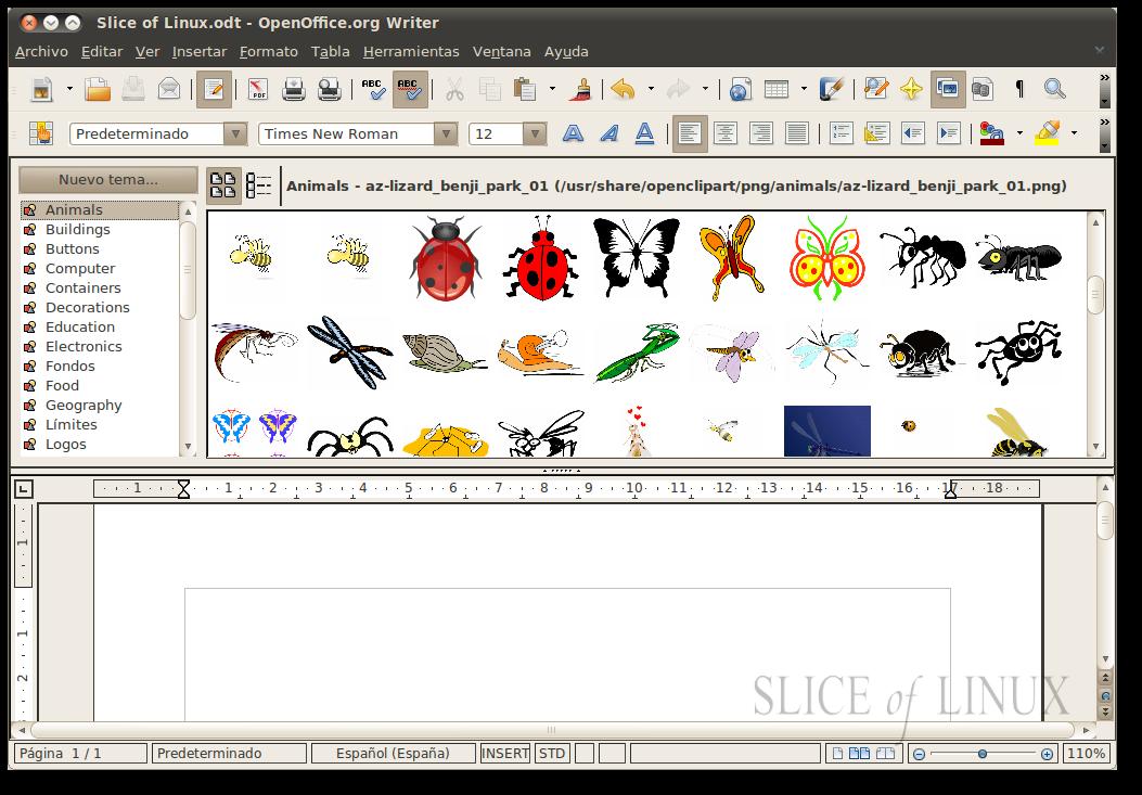 Open ClipArt: añade dibujos a tus documentos de OpenOffice ...