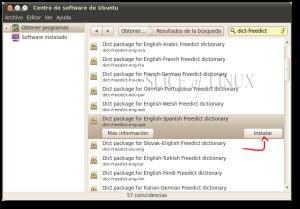 Instalamos el diccionario Inglés-Español