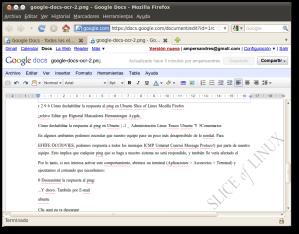 Texto reconocido por el OCR de Google Docs