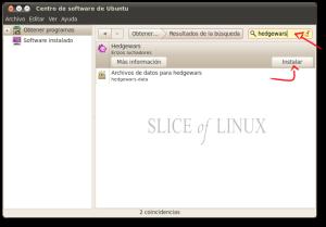 Instalamos Hedgewars desde el Centro de software de Ubuntu