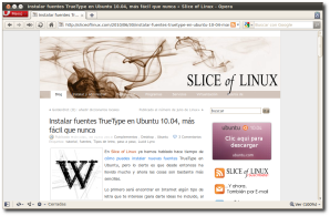 Slice of Linux en Opera 10.60