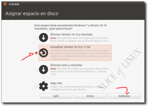 Actualizar de Ubuntu 10.10 a Ubuntu 11.04 con Windows 7