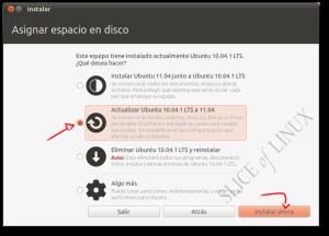 Actualizar de Ubuntu 10.04 LTS a Ubuntu 11.04